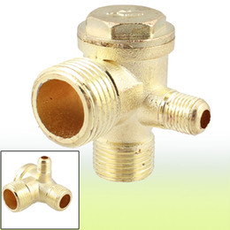 Wholesale 2 Inch Inch PT Inch PT Male Thread Way Metal Air Compressor Check Valve Gold Tone