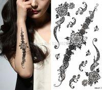 Wholesale Temporary Waterproof Black Henna Tattoo Sticker Women Body Art cm