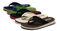 Wholesale Hot slippers beach shoes men s flip flops Summer simple male non slip rubber flip flops