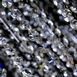 Wholesale 5M Sparkle AAA Crystal Garland Strand Hanging mm Octagon Bead Chain For Wedding Tree Christmas Party Decor