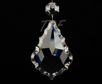 crystal prism - AAA Clear Chandelier Crystal Suncatcher Baroque Maple Leaves French Cut Pendant Prism Lamp Parts inches