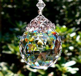 1Pcs Huge 80mm Glass Chandelier Hanging Crystal Ball Sun catcher
