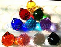 Wholesale AAA grade mm Mixed Color Crystal Faceted Ball Pendants Suncatchers color choose Teardrop shape
