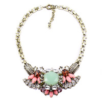 Cheap Wholesale-2015 New Arrival wholesale High quality fashion trendy vintage fashion necklace costume choker chunky Necklace statement jewelry