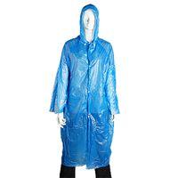Wholesale Unisex Blue Plastic Emergency Adult Raincoat Rain Coat