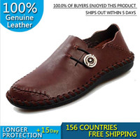 Wholesale SISI Mens Genuine Leather Handmade Casual Shoes New British Slip On Sneakers Brand Designer Flats Oxfords For Men Y066
