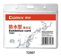 Wholesale Comix T2567 Transparent Waterproof Soft Exhibition Card Holder Specifications horizontal Unite Price sets Size mm