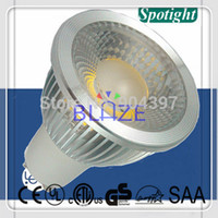 Wholesale Super Bright COB leds Dimmable W LM led GU10 Spotlight bulbs Ampoule V V with Color Box