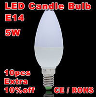 Wholesale Candle Led Lamp Light E14 W Spotlight SMD Warm Cool White V Led Bulb Indoor Chandelier Partners Super Bright