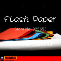 Wholesale Flash Paper Colored Multicolor x20cm orange blue red green yellow black magic trick accessories
