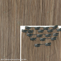 Wholesale 8 quot Straight Full Head Clip Synthetic Fiber Hair Extensions