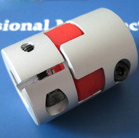 Wholesale High Precision big torque Aluminum plum type coupling for servo and stepper motor couplings D L D1 and D2 are to