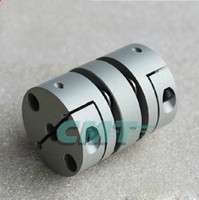 Wholesale New Flexible Aluminum alloys double diaphragm coupling for servo and stepper motor couplings D L D1 and D2 are to MM