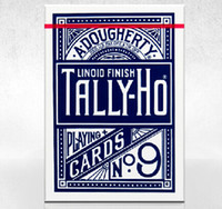 Wholesale New Blue Tally Ho No Deck Playing Card Top Grade Fan Back Tally Ho Playing Cards Creative Poker Magic Card
