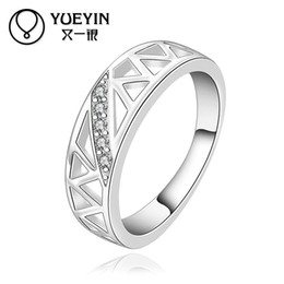 R490-8 Silver plated new design finger ring for lady Geometric ring Newest Style
