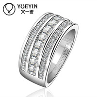 beautiful wild - R577 High quality new listings silver rings fashion jewelry Classic Crystal Ring beautiful Unisex wild rings
