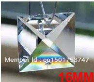 Wholesale MM SQUARE glass beads in holes TRANSPARENT COLOR FREESHIPPING CRYSTAL PRISM OF CHANDELIER