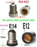 Plastic E12 YES Wholesale-100pcs E14 to E12 adapter Lamp Holder socket converter E14-E12 bulb base edison socket lamp base Free Shipping