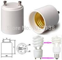 achat en gros de convertisseurs gu24-Gros-20pcs GU24 à LED E27 Lampe adaptateur Titulaire d'ampoules Converter livraison gratuite avec le cheminement no