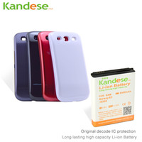 Wholesale KANDESE Brand New High Capacity mAh Li ion repalcement Extended battery for Samsung Galaxy S3 i9300