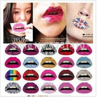 Wholesale 2014 New Arrival Sexy Colour lip Tattoo Transfer Disposable Lips Sticker Tattoo Body Art Temporary Tattoos