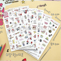 Wholesale Wholesales New Korea style DIY Scrapbook diary Phone decoration paper Sticker kawaii Momoi series PVC Sticker kids gift