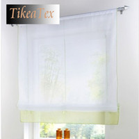 Wholesale Embroider Sheer Curtains Removable Short Roman Blinds Curtains for Kitchen Room cortinas Coffee Curtain Shade Window Blinds b03