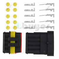 electrical wire connectors - 5X Kit Pin Way Waterproof Electrical Wire Connector Plug