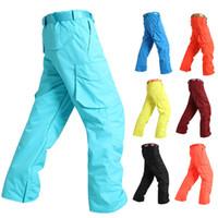Wholesale Men Ski Pants Male Snowboard Trousers Single Plate Double Board Waterproof windproof Warm GSOU SNOW