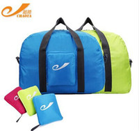 Wholesale 2015 Outdoor Portable Travel Bags Folding Bags Solid Color Travel Duffle Super Light Luggage