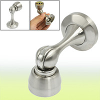 Wholesale Round Base Door Magnetic Stopper Silver Tone Holder