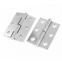 wooden crates - 2pcs Stainless Steel Wooden Boxes Crates Door Gate Butt Hinges Inch Length