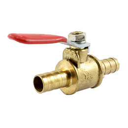 Wholesale 8mm x mm Hose Tail Pipe Fitting Red Lever Handle Ball Valve