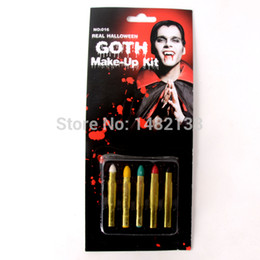 Wholesale Halloween Fancy Party Clown Face Painting Greasepaint color crayon makeup