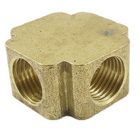 female thread adapter - 1 Inch NPT Female Thread Brass Ways Cross Connector Water Pipe Adapter Coupler