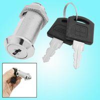 Wholesale 23mm Diameter mm Height Cabinet Metal Cam Lock Silver Tone