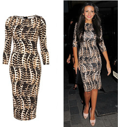 Free Ship fashion European and American star models leopard print slim hip slim half sleeve plus size one-piece dress