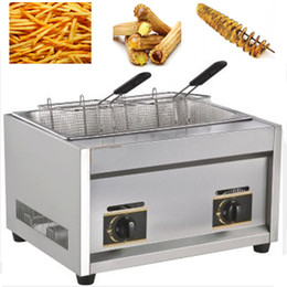 Wholesale 3 in Tornado Potato Twister Potato Spiral Electric Potato Cutter LPG Gas Deep Fryer cm Bamboo Skewers
