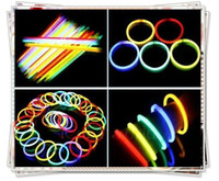 100pcs hot glow led flashing lighting bracelet glow sticks F...