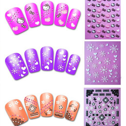Wholesale 50Sheets D Design Nail Art Stickers Decals Manicure Mix Style Nail Art Wraps Foil Polish Decorations DIY Nail Tools XF181 XF204