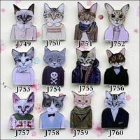 Yakeli the latest Japanese harajuku badge pin Cute cat meow ...