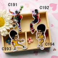 New Fashion Harajuku Acrylic Broochs Favorite Bruce Lee Mich...