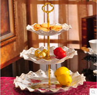 Wholesale No Plates Useful Tier Cake Plate Stand Centre Handle Rods for Wedding Party Crown Rod Deco Cupcake stand M181