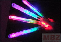 Freeshipping 50pcs LED Flashing light up wand novelty toy, gl...