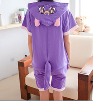 Wholesale Cartoon Summer Sailor Moon Purple Cat Diana Unisex kawaii Anime Onesie Hoodie Pajamas sleepwear party suit cosplay costume