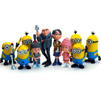 Wholesale 10pcs D Despicable ME Movie Minions Toys Ornament Despicable Me Doll Minion Desk Decorative DIY Hand Made Toys Brinquedos