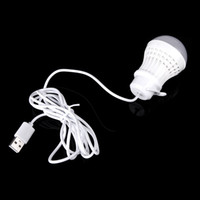 Wholesale 5V W Mobile LED Bulb Lamp Light with USB Interface Hook Cable Line Flexible Plastic for Power Bank Outdoor Travel Camping H10931