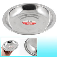 Wholesale Kitchen Inch Dia Stainless Steel Dinner Plate Dish Food Container Silver Tone