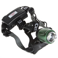 Wholesale 10pcs Lumens CREE XM L T6 LED Zoomable Headlamp with Adjustable Base