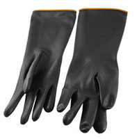 Wholesale Pair Anti Acid Industry Chemical Resistant Elbow Long Rubber Gloves